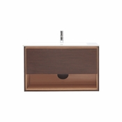Avanity Sonoma 39 in. Vanity in Iron Wood Finish with Integrated Vitreous China Top - SONOMA-VS39-IW