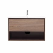 Avanity Sonoma 39 in. Vanity in Restored Khaki Wood Finish with Integrated Vitreous China Top - SONOMA-VS39-RK