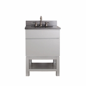 Avanity Tribeca 24 in. Vanity with Base in Chilled Gray Finish with Black Granite Top - TRIBECA-VSB24-CG-A
