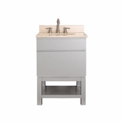 Avanity Tribeca 24 in. Vanity with Base in Chilled Gray Finish with Galala Beige Marble Top - TRIBECA-VSB24-CG-B