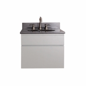 Avanity Tribeca 24 in. Wall Mounted Vanity in Chilled Gray Finish with Black Granite Top - TRIBECA-VS24-CG-A