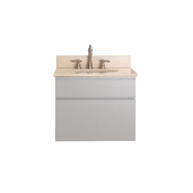 Avanity Tribeca 24 in. Wall Mounted Vanity in Chilled Gray Finish with Galala Beige Marble Top - TRIBECA-VS24-CG-B