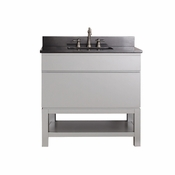Avanity Tribeca 36 in. Vanity with Base in Chilled Gray Finish with Black Granite Top - TRIBECA-VSB36-CG-A