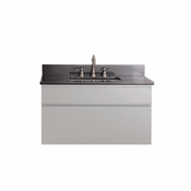 Avanity Tribeca 36 in. Wall Mounted Vanity in Chilled Gray Finish with Black Granite Top - TRIBECA-VS36-CG-A