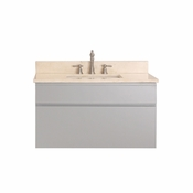Avanity Tribeca 36 in. Wall Mounted Vanity in Chilled Gray Finish with Galala Beige Marble Top - TRIBECA-VS36-CG-B