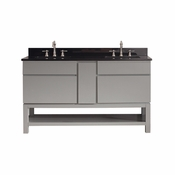 Avanity Tribeca 60 in. Vanity with Base in Chilled Gray Finish with Black Granite Top - TRIBECA-VSB60-CG-A