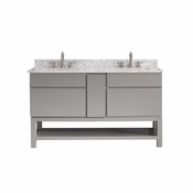 Avanity Tribeca 60 in. Vanity Only with Base in Chilled Gray Finish - TRIBECA-VB60-CG