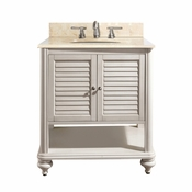 Avanity Tropica 25 in. Vanity in Antique White Finish with Galala Beige Marble Top - TROPICA-VS24-AW-B
