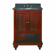 Avanity Tropica 24 in. Vanity Only in Antique Brown Finish - TROPICA-V24-AB