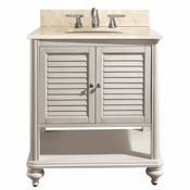 Avanity Tropica 31 in. Vanity in Antique White Finish with Galala Beige Marble Top - TROPICA-VS30-AW-B