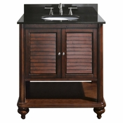 Avanity Tropica 30 in. Vanity Only in Antique Brown Finish - TROPICA-V30-AB