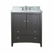 Avanity Westwood 25 in. Vanity in Ebony Finish with Carrera White Marble Top  - WESTWOOD-VS24-EB-C