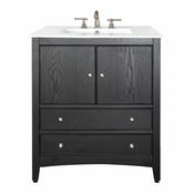 Avanity Westwood 25 in. Vanity in Ebony Finish with Integrated Vitreous China Top  - WESTWOOD-VS24-EB