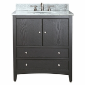 Avanity Westwood 31 in. Vanity in Ebony Finish with Carrera White Marble Top  - WESTWOOD-VS30-EB-C