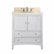 Avanity Westwood 31 in. Vanity in White Washed Finish with Galala Beige Marble Top  - WESTWOOD-VS30-WW-B