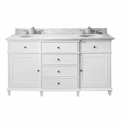 Avanity Windsor 61 in. Double Vanity in White Finish with Carrera White Marble Top - WINDSOR-VS60-WT-C