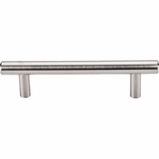 "Top Knobs - Bar Pulls Collection - Hopewell Bar Pull 3 3/4"" (c-c) - Brushed Satin Nickel - M429"