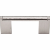 "Top Knobs - Bar Pulls Collection - Princetonian Bar Pull 3"" (c-c) - Brushed Satin Nickel - M1040"