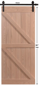 Pacific Entries - Barn Series Door - Hickory - Unfinished - Ready to Assemble -