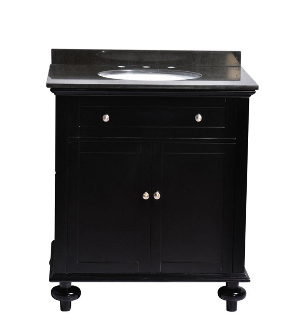 Belmont d cor madison 24 single sink vanity ariel bath for How much to install a bathroom vanity and sink