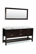 "Belmont Décor Nautica 72"" Double Sink Vanity Set"