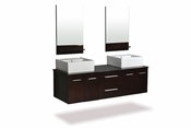 "Belmont Décor Skyline 60"" Double Sink Vanity Set"