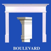 Boulevard Mantel - Stain Grade - Red Oak - 36