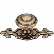 "Top Knobs - Britannia Collection - Canterbury Knob 1 1/4"" w/Backplate - German Bronze - M31"