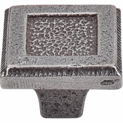"Top Knobs - Britannia Collection - Square Inset Knob 1 5/16"" - Cast Iron - M1820"