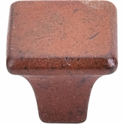 "Top Knobs - Britannia Collection - Square Knob 1 1/4"" - True Rust - M1810"