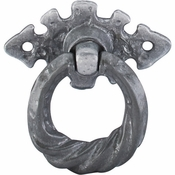 "Top Knobs - Britannia Collection - Tudor Pull 2 1/8"" w/Horizontal Backplate - Pewter Light - M5H"