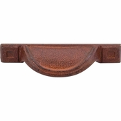 "Top Knobs - Britannia Collection - Cup Pull 2 1/2"" (c-c) - True Rust - M1812"