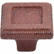 "Top Knobs - Britannia Collection - Square Inset Knob 1 5/16"" - True Rust - M1822"