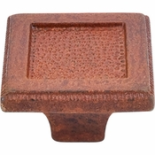 "Top Knobs - Britannia Collection - Square Inset Knob 2"" - True Rust - M1821"
