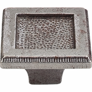 "Top Knobs - Britannia Collection - Square Inset Knob 2"" - Cast Iron - M1819"