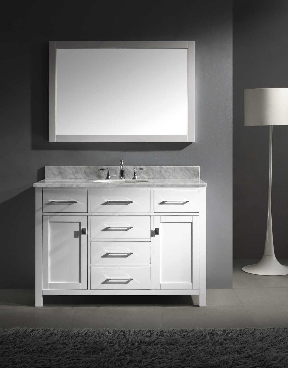 Virtu USA Caroline Single Bathroom Vanity Cabinet Set In - Single bathroom vanity cabinets