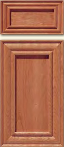 Cherry Mitered Cabinet Door<br>Recessed Panel<br>Series DP-597 Unfinished