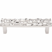 "Top Knobs - Cobblestone Collection - Cobblestone Pull 3 3/4"" (c-c) - Polished Nickel - TK304PN"
