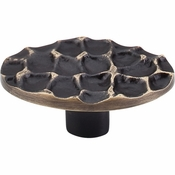 "Top Knobs - Cobblestone Collection - Cobblestone Oval Knob 2 5/8"" - Brass Antique - TK299BA"