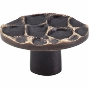 "Top Knobs - Cobblestone Collection - Cobblestone Oval Knob 2"" - Brass Antique - TK298BA"
