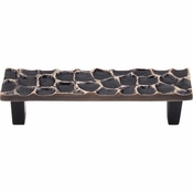 "Top Knobs - Cobblestone Collection - Cobblestone Pull 3 3/4"" (c-c) - Brass Antique - TK304BA"