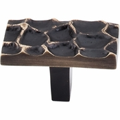 "Top Knobs - Cobblestone Collection - Cobblestone Rectangle Knob 1 7/8"" - Brass Antique - TK303BA"