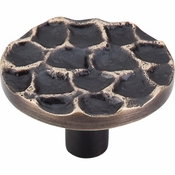"Top Knobs - Cobblestone Collection - Cobblestone Round Knob 1 15/16"" - Brass Antique - TK297BA"