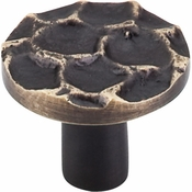 "Top Knobs - Cobblestone Collection - Cobblestone Round Knob 1 3/8"" - Brass Antique - TK296BA"