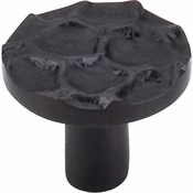 "Top Knobs - Cobblestone Collection - Cobblestone Round Knob 1 3/8"" - Coal Black - TK296CB"