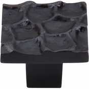 "Top Knobs - Cobblestone Collection - Cobblestone Square Knob 1 3/8"" - Coal Black - TK301CB"