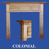 Colonial Mantel - Stain Grade - Red Oak - 36