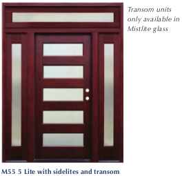 Pacific Entries - Contemporary Series Door - 5 Lite Seedy Glass - Single Seedy Glass Sidelites - Includes Transom Unit - M55-8 6 Panels  sc 1 st  Millwork City & Pacific Entries - Contemporary Series Door - 5 Lite Seedy Glass ...