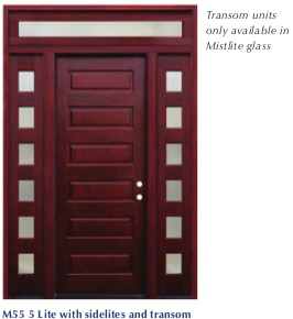 Pacific Entries - Contemporary Series Door - 6 Raised Panels - 6 Lite Mistlite Glass Sidelites - M65  sc 1 st  Millwork City & Pacific Entries - Contemporary Series Door - 6 Raised Panels - 6 ...