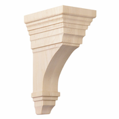01607011CH1 Full Arts and Crafts Wood Corbel Cherry